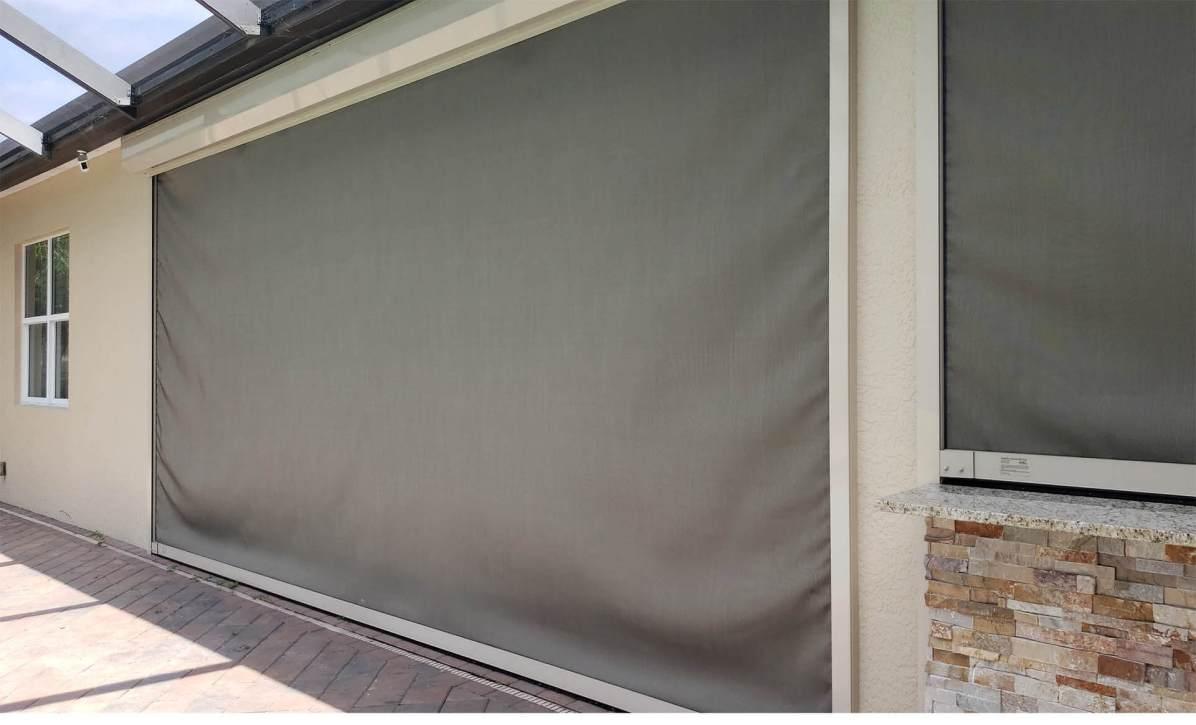 Sun Shade Screen - Elegant Outdoor Kitchens of SWFL