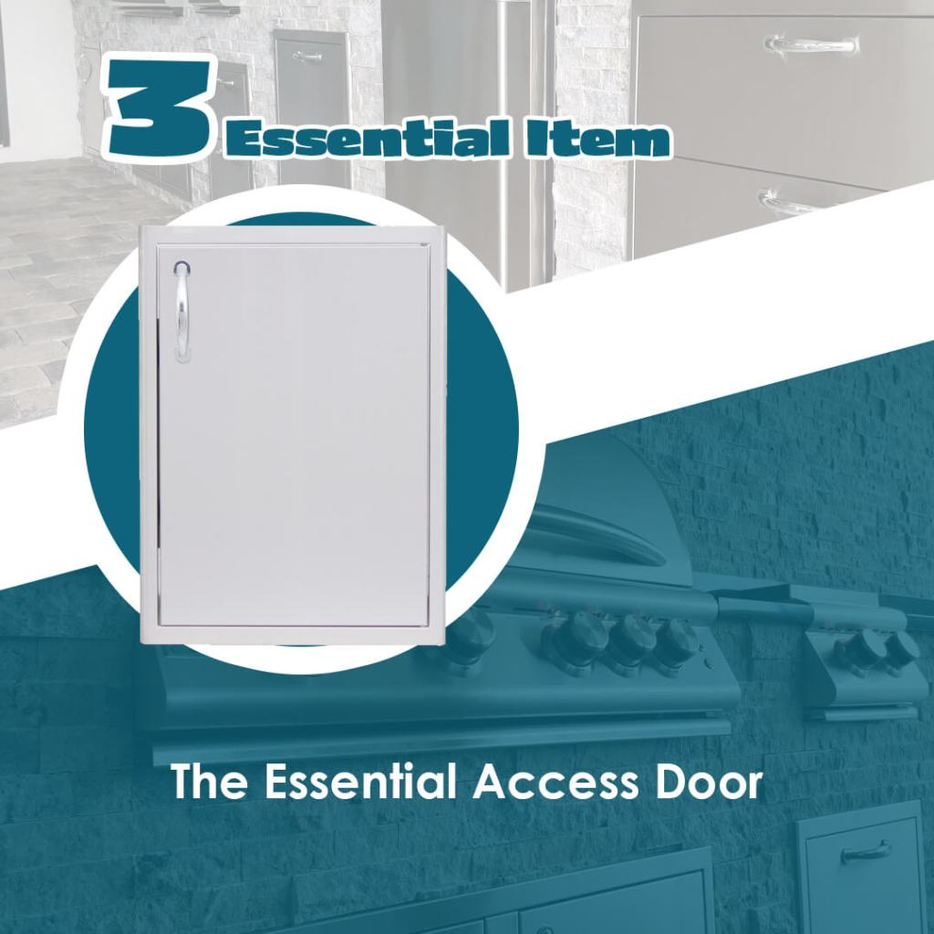 The Essentials Article Outdoor Kitchen Access Door - Elegant Outdoor Kitchens