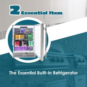 The Essentials Article The Built-In Refrigerator - Elegant Outdoor Kitchens