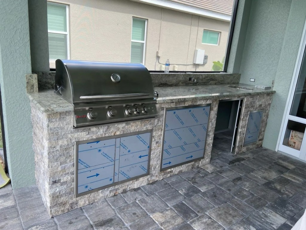 Custom Outdoor Kitchen by Elegant Outdoor Kitchen of Fort Myers, Florida