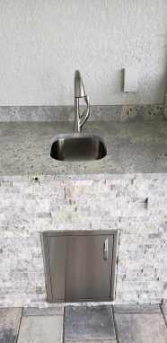 Under-mount Sink and Faucet - Elegant Outdoor Kitchens of Southwest Florida