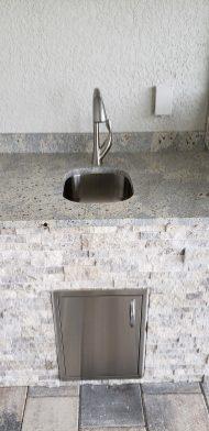 Under-mount Sink and Faucet - Elegant Outdoor Kitchens of Southwest Florida