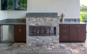 Elegant Outdoor Kitchens Custom Outdoor Fireplace Project