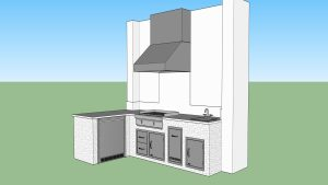 Custom Outdoor Kitchen & Living Area Design by Elegant Outdoor Kitchens of Southwest Florida