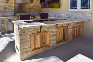 Washington State Wood inlays - Unique accent wood that gives this gorgeous kitchen its #RusticAppeal