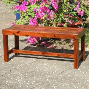 Caravan Highland Acacia Americana - the best outdoor backless bench under $100