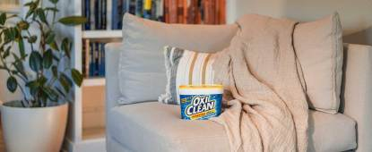 A picture showing outdoor cushions ready for cleaning so we discuss how to clean outdoor cushions with oxiClean