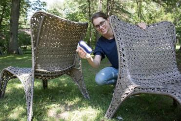 How to protect outdoor resin wicker furniture by cleaning it