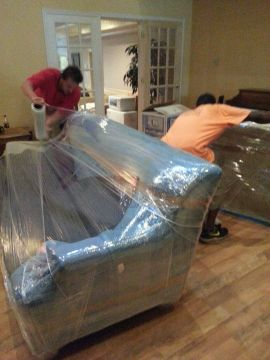 How to shrink wrap outdoor furniture
