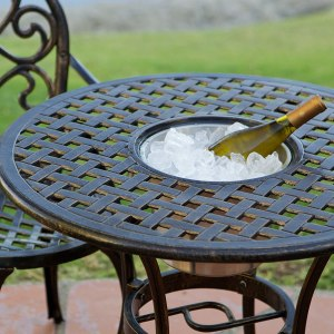 Cristopher Night, one of the best ice bucket tables for patio