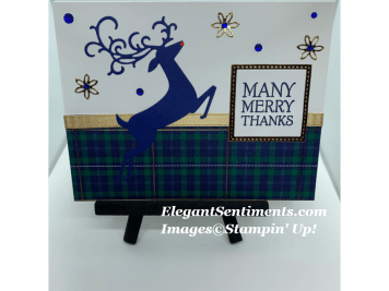 a trio of christmas cards with reindeer using Stampin Up products