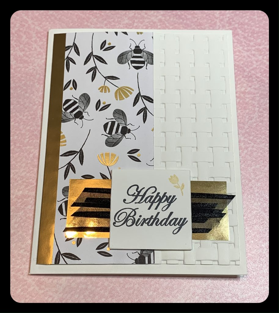 Birthday Card made with Stampin Up products