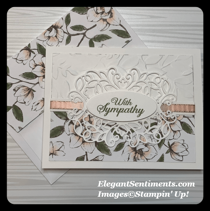 Sympathy card with envelope using Stampin Up products