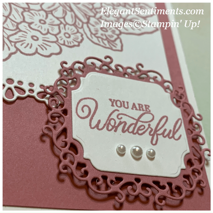 Close up of floral greeting card made with Stampin' Up! products