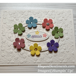 Hello greeting card made with Stampin