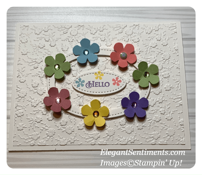 Hello greeting card made with Stampin' UP! products
