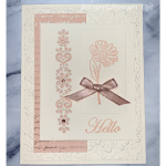 A hello greeting card made with Stampin