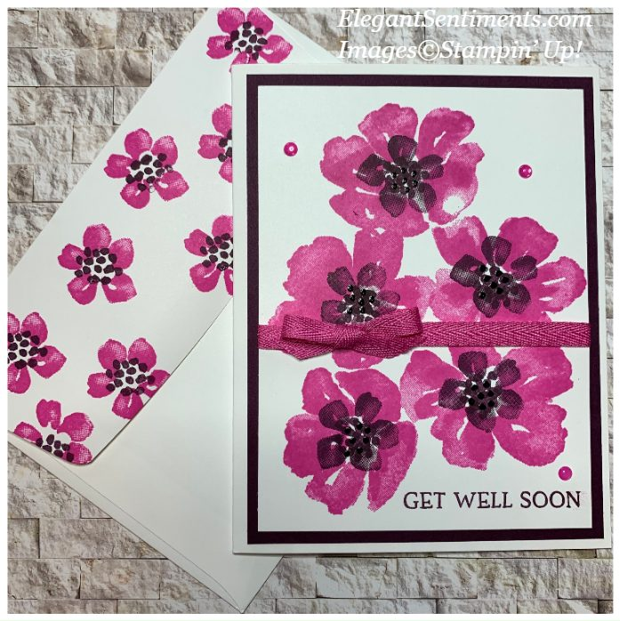 Get well card and coordinating envelope made with Stampin' Up! products
