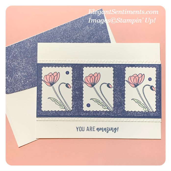 Greeting card and coordinating envelope made with Stampin' Up! products