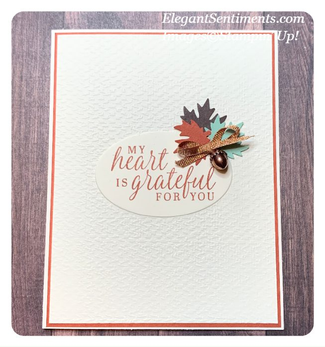 Thank You Card made with Beautiful Autumn bundle by Stampin' Up!