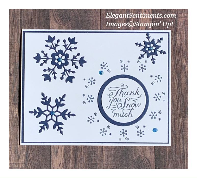 A Thank You card made with Stampin' Up! products