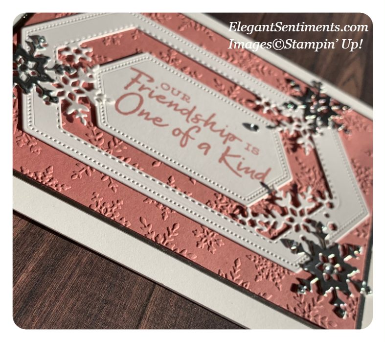 A close up look at a greeting card made with Stampin' Up! products