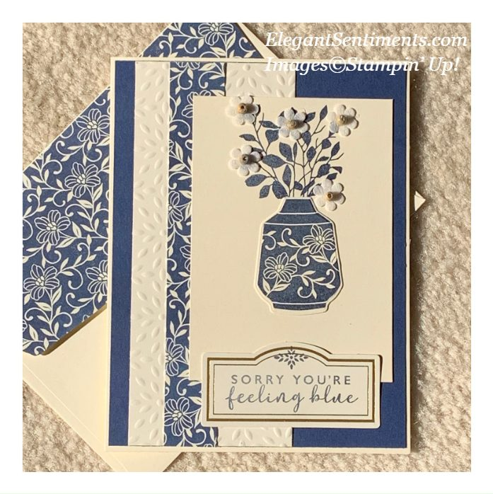 Greeting card and coordinating envelope made with Boho Indio Product medley by Stampin' Up!