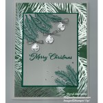 A Christmas card made with Stampin