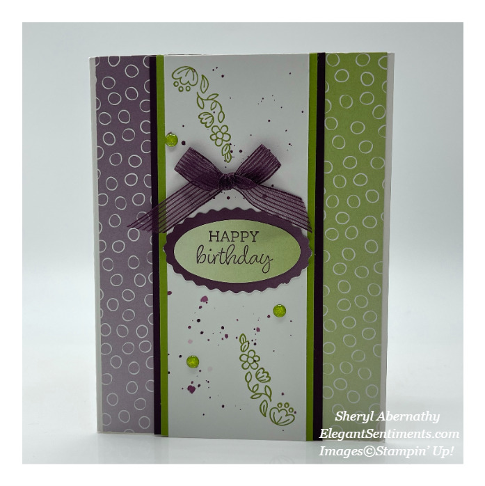 Birthday card made with Stampin' Up products