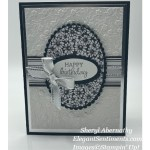 Black and White birthday card made with Stampin