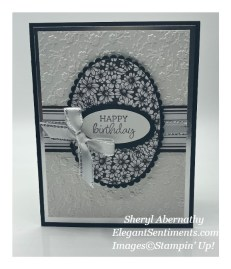 Black and White birthday card made with Stampin' Up! products