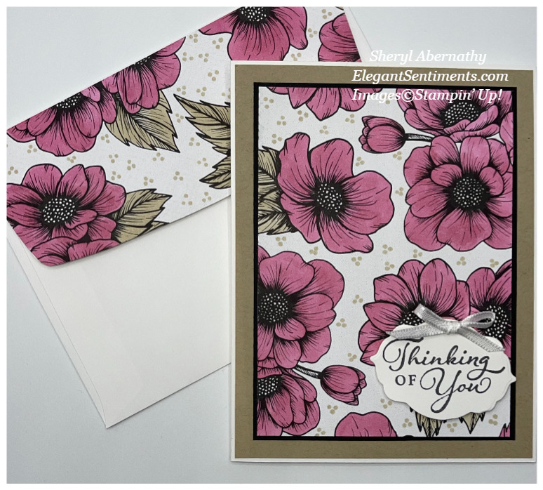 Thinking of you card and coordinating envelope made with Stampin' Up! products