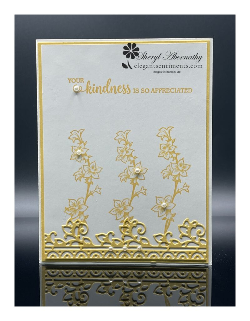 Thank you card made with Stampin' Up! products