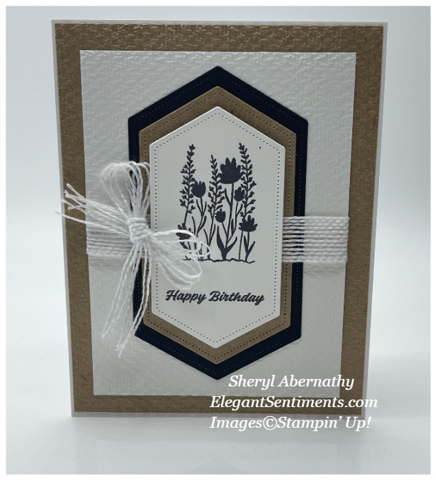 Birthday card made with Stampin' Up! products