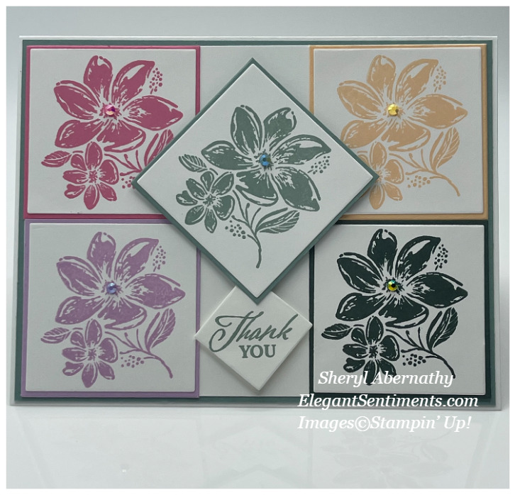 Thank you Card made with Stampin' Up! products!