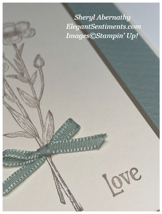 Close-up of a greeting card made with Stampin' Up! products