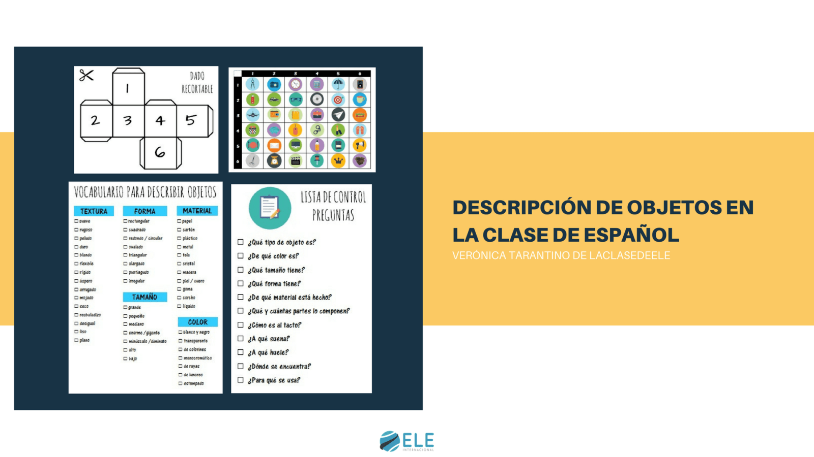 Descripcion De Objetos En La Clase De Espanol