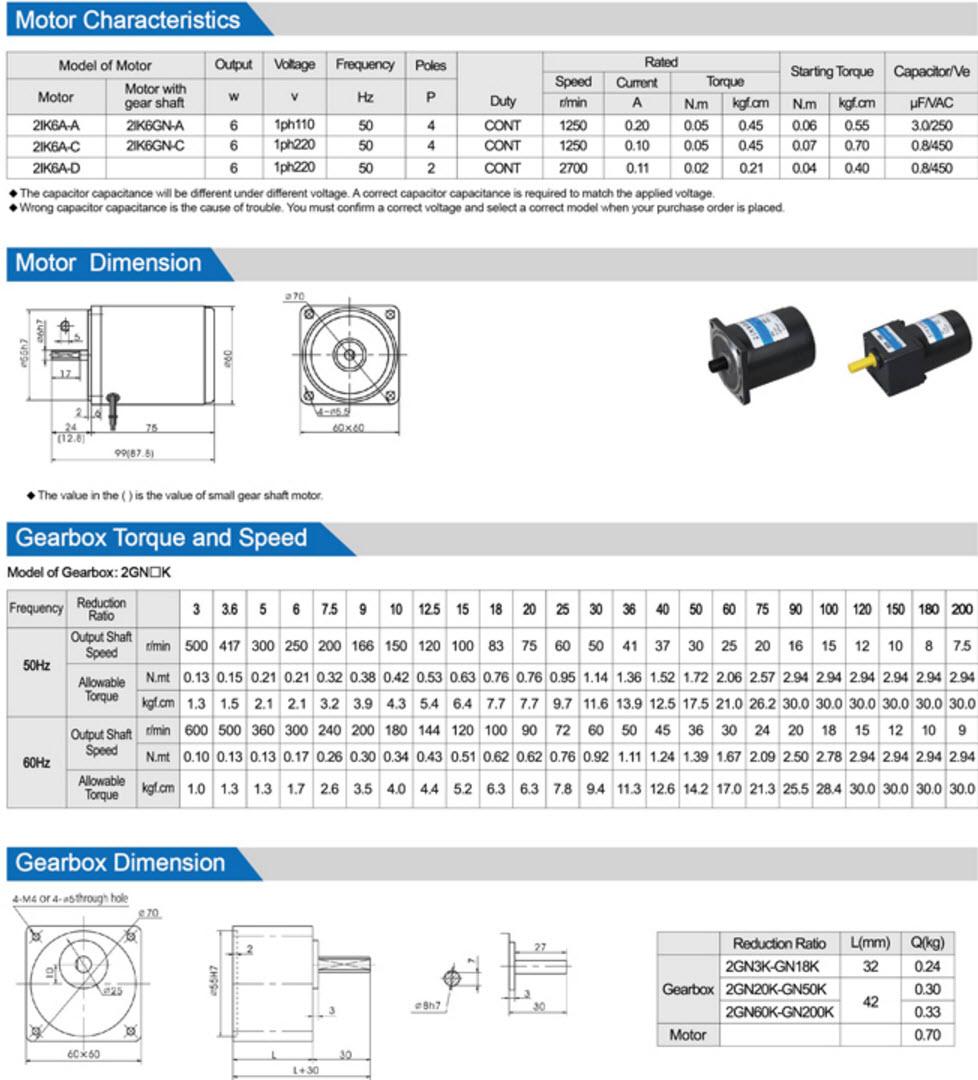 6W AC Gear