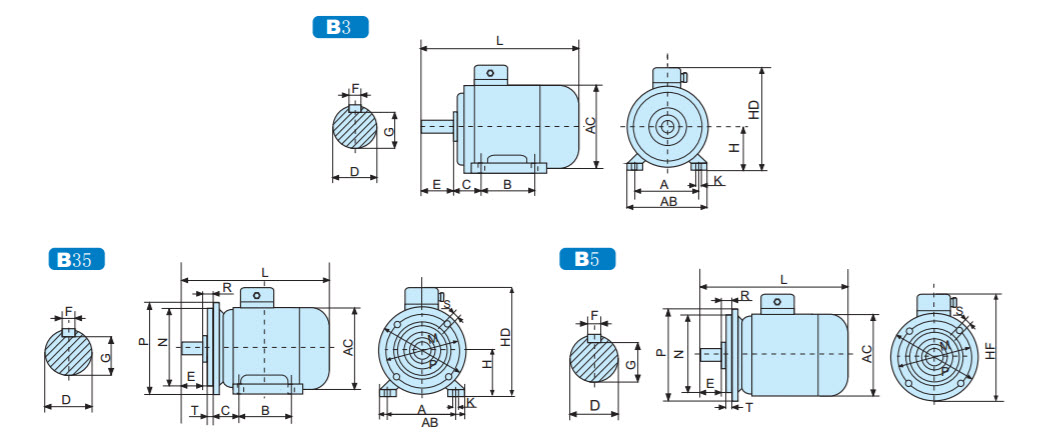 Y2 Series Three Phase Asynchronous Motor 1