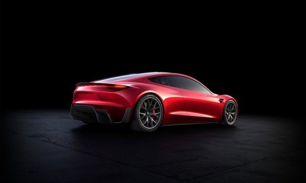 Tesla Roadster - Rückseite
