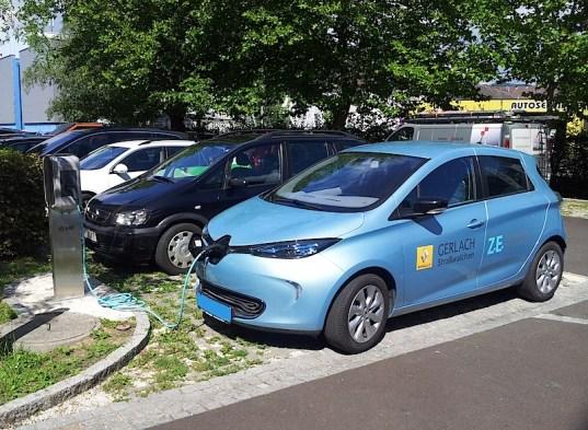 Keba Ladestation in Linz Urfahr bei der Firma KEBA, 22 kW, derzeit kostenlos