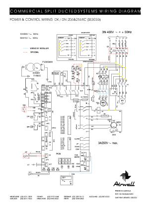AIRWELL DK DN206 256RC WIRINGDIAGRAM Service Manual