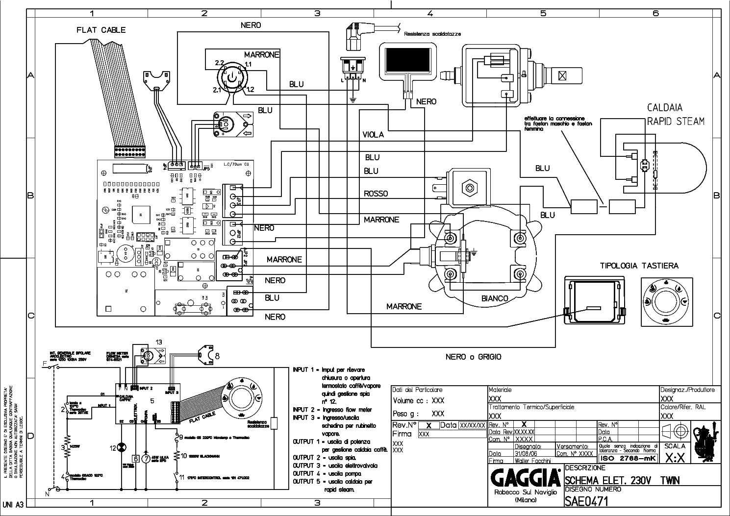 Gaggia Titanium 230 Service Manual Download Schematics