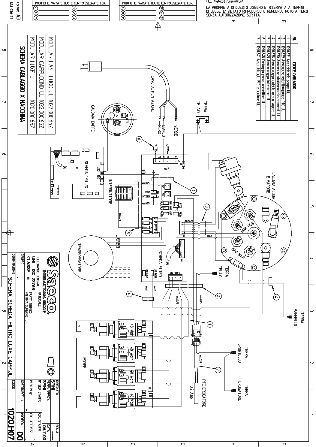 Saeco Wiring Diagram