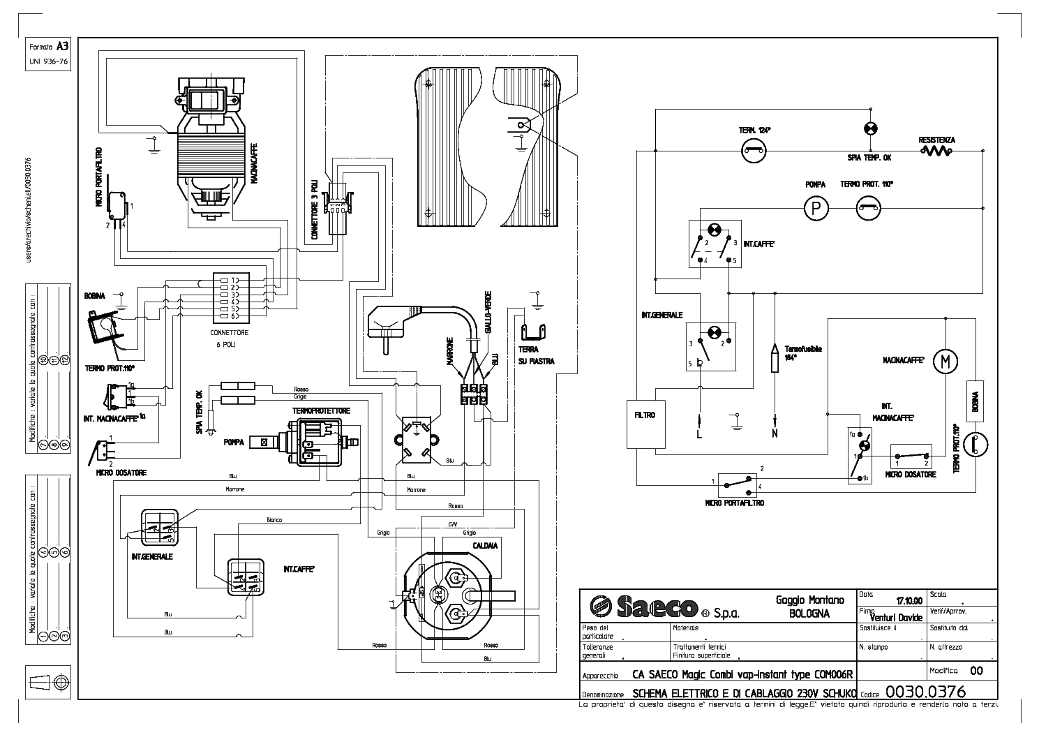 Saeco Via Venezia Combi Wiring Service Manual Download