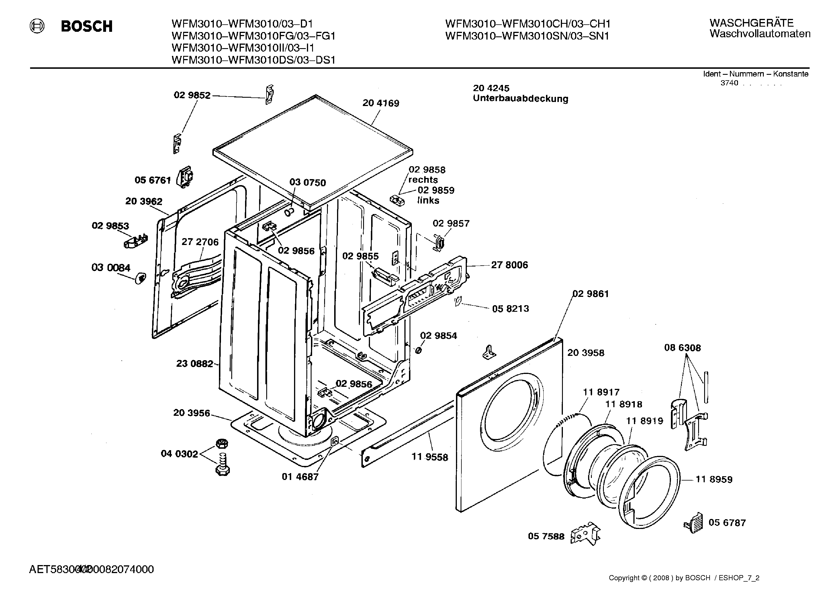 Bosch Wfm Ds 03 Service Manual Download Schematics