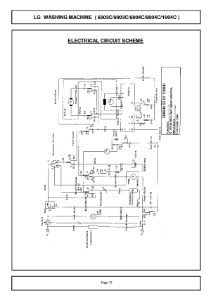 LG WD 6003C WIRING DIAGRAM Service Manual download