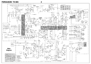 FERGUSON TX805 Service Manual download, schematics, eeprom, repair info for electronics experts