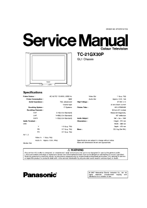 PANASONIC TC21GX30P CHASSIS GL1 SM Service Manual
