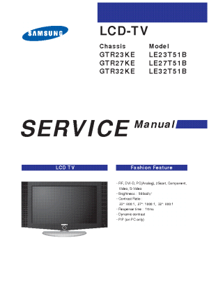 SAMSUNG LCD TV LE27T51B Service Manual download